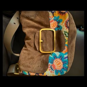 Beautiful Tory Burch suede handbag!!! Nearly new!